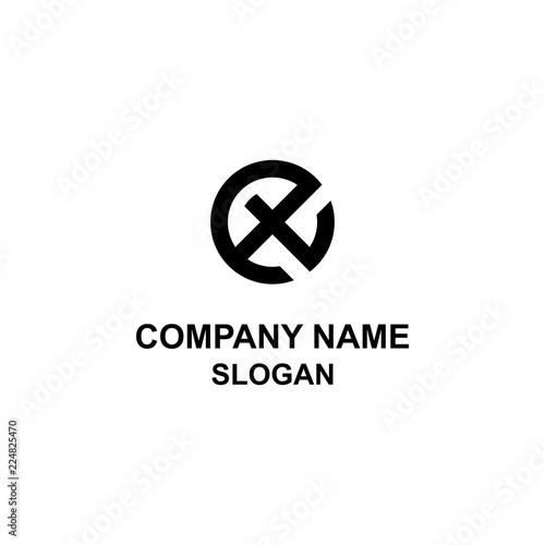 Photo  ET letter initial circle logo.