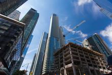Modern Toronto City With Unfin...