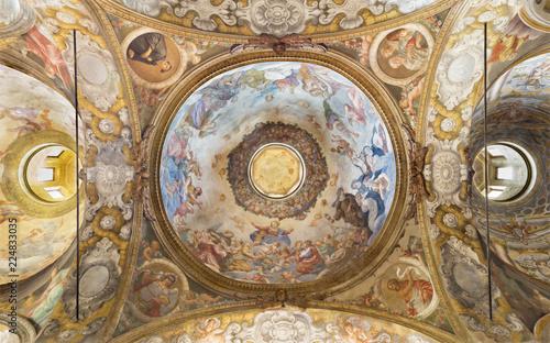Valokuva  PARMA, ITALY - APRIL 15, 2018: The fresco of Assmption of Virgin Mary in side cupola of church  Chiesa di Santa Cristina by Filippo Maria Galletti (1636-1714)