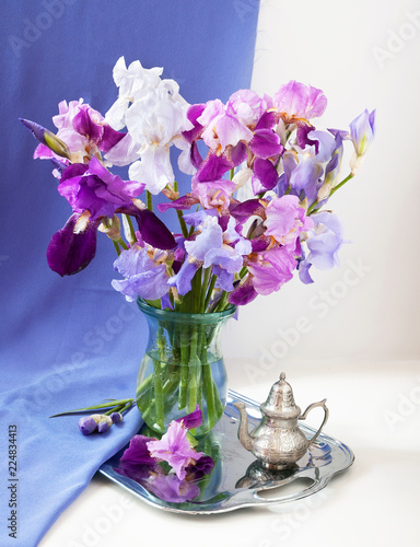 still life with flowers bunch