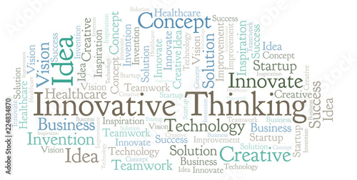 Fotografiet  Innovative Thinking word cloud, made with text only.