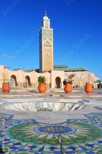 Carta da parati Great Mosque Hassan II in Casablanca, Morocco.