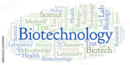 Fotografía  Biotechnology word cloud.