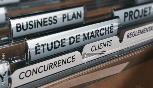 Cuadros en Lienzo Etude de marché, analyse de la concurrence et de la clientèle lors du processus