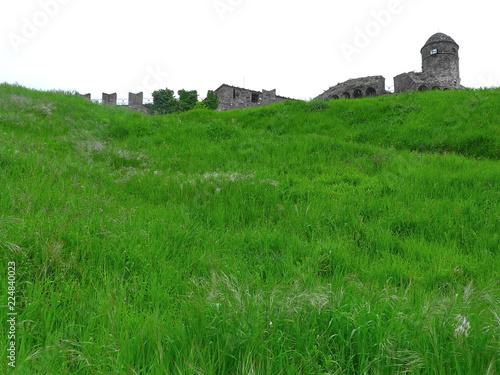 Poster Groene Sarzanello fortress, Liguria, Italy