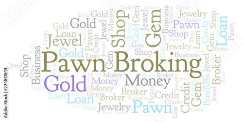 Fotografie, Obraz  Pawn Broking word cloud.