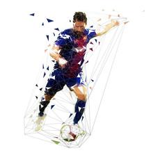 Football Player In Dark Blue J...