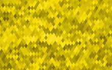 Yellow Rhombus Light Background. Background Pattern Gold Rhombus For Design. Halftone Vintage Abstract Golden Backdrop. Amber Grunge Texture. Abstract Vector Illustration Eps10.