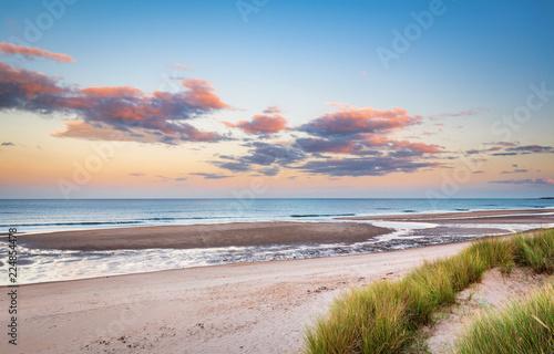 Wallpaper Mural Druridge Bay Sandy Beach near sunset / Druridge Bay is a seven mile long beach i
