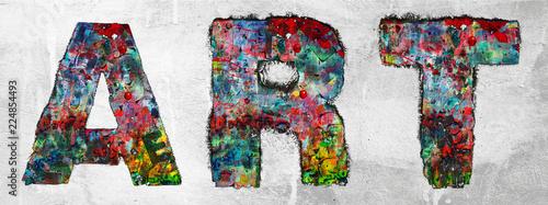 Foto op Aluminium Graffiti the word ART made from graffiti