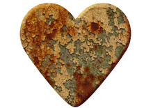 Heart Made Of Rusty Metal Isol...