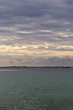 landscape of sea at sunset in a cloudy day
