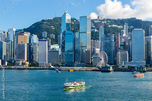 Photo  Hong Kong skyline in Victoria Harbour