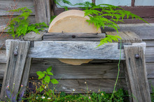 Old Grinding Stone With Worn T...