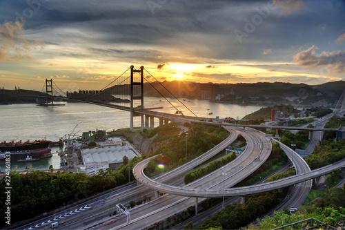 Keuken foto achterwand Bruggen Tsing Ma Bridge