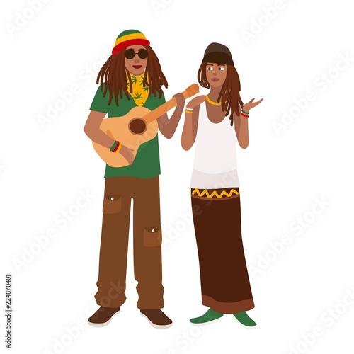 Fotografie, Obraz Rastafari couple