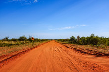 Red Dirt Road Leading To Blue ...