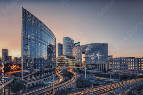 Tuinposter Stad gebouw La Defense, business district in Paris
