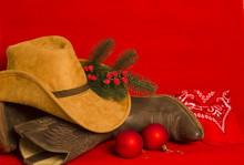 Cowboy Christmas Card.American...