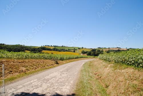 Photo  route du Gers