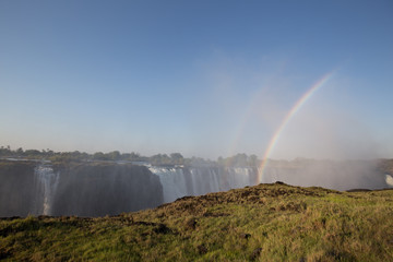 african waterfall in the mountain