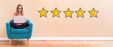 Five Star Rating With Young Wo...