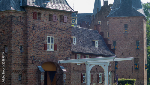Foto op Aluminium Oude gebouw Doorwerth Castle in The Netherlands near Arnhem