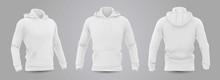White Men's Hooded Sweatshirt ...