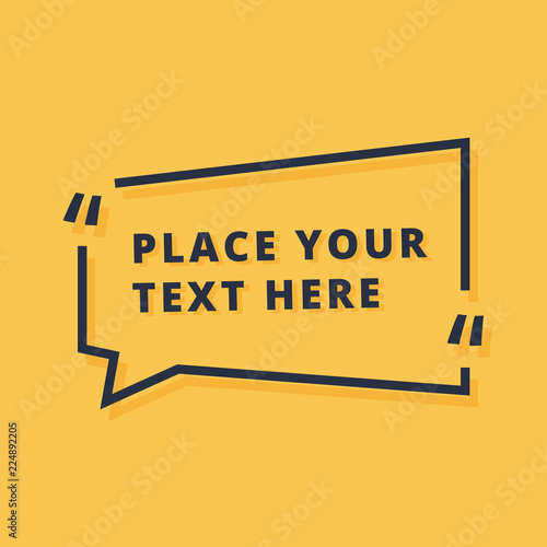 Photo Text frame design vector illustration isolated on yellow background