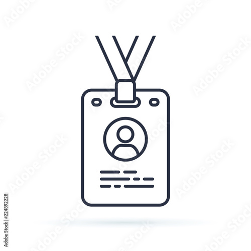 Cuadros en Lienzo  Press card outline icon