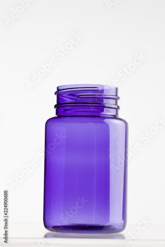 Purple plastic jar