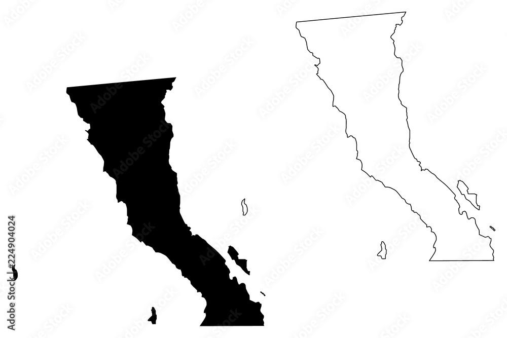 Baja California (United Mexican States, Mexico, federal ...