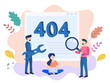 Concept 404 Error Page or File not found for web page, banner, presentation, social media, documents, cards, posters. Website maintenance error, webpage under construction Vector illustration, flat