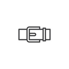 Trouser Belt Outline Icon. Linear Style Sign For Mobile Concept And Web Design. Belt Buckle Simple Line Vector Icon. Symbol, Logo Illustration. Pixel Perfect Vector Graphics
