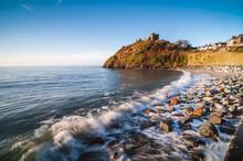 Criccieth Castle, Above Criccieth Beach, Gwynedd, North Wales, Wales