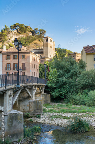Fotografering  View of Estella, Lizarra, Navarra, Spain