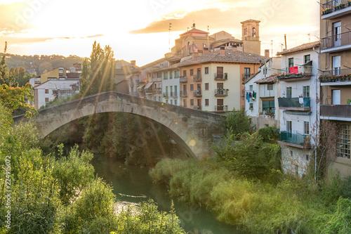 Fotografia  View of Estella, Lizarra, Navarra, Spain