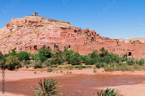 Spoed Foto op Canvas Marokko A traditional Berber city on the hillside. Africa Morocco Ait Ben Haddou fortress;