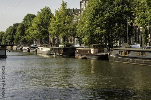 Fotografie, Obraz  canal de Amsterdam