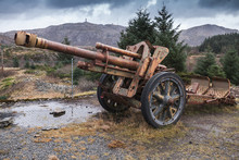 Old Rusted German Cannon From World War II