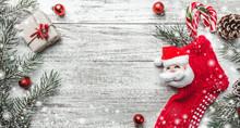 Christmas Theme With Fir Branc...