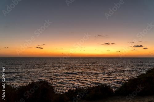 Papel de parede San Diego Point Loma Cliffs at sunset