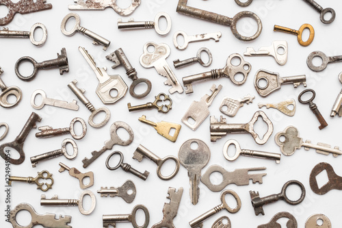Cuadros en Lienzo old keys  - small retro key collection