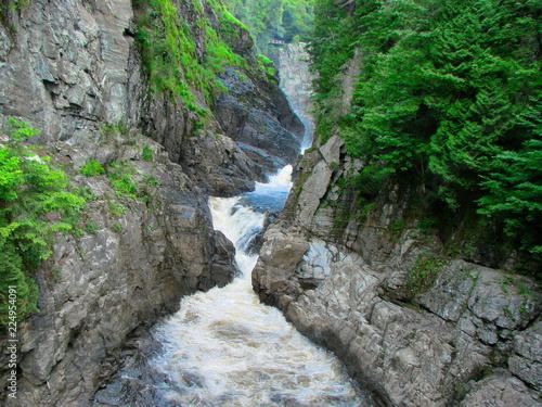 Canyon Sainte-Anne Waterfall, Quebec Wallpaper Mural