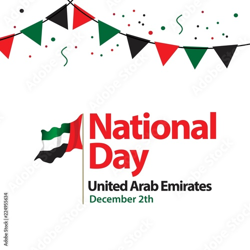 Fotografie, Obraz  National Day United Arab Emirates Vector Template Design Illustration