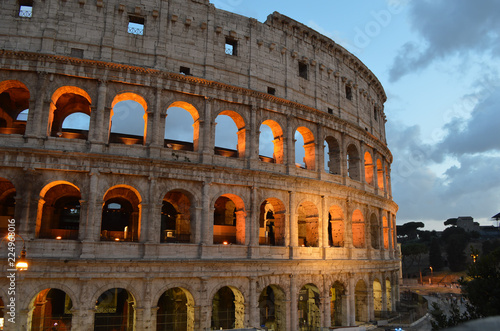 Roman Colosseum, the most impressive monument in Rome, Italy