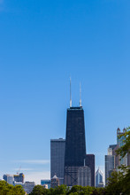 Chicago Skyline With View Of J...