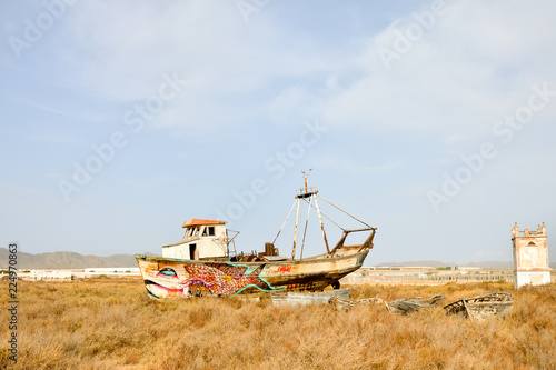 In de dag Schip Abandoned Old Ship