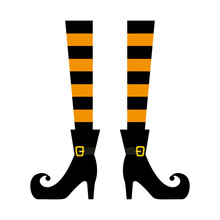 Halloween Witch Legs Icon