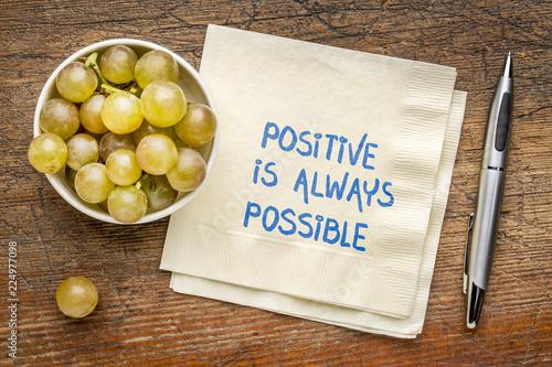 Fotografie, Obraz  Positive is always possible